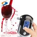 Puntos de venta de fábrica AT6000 Personal inteligente de Control MCU aliento analizador alcoholemia probador Digital de Alcohol de Freeship + 5 unids boquillas