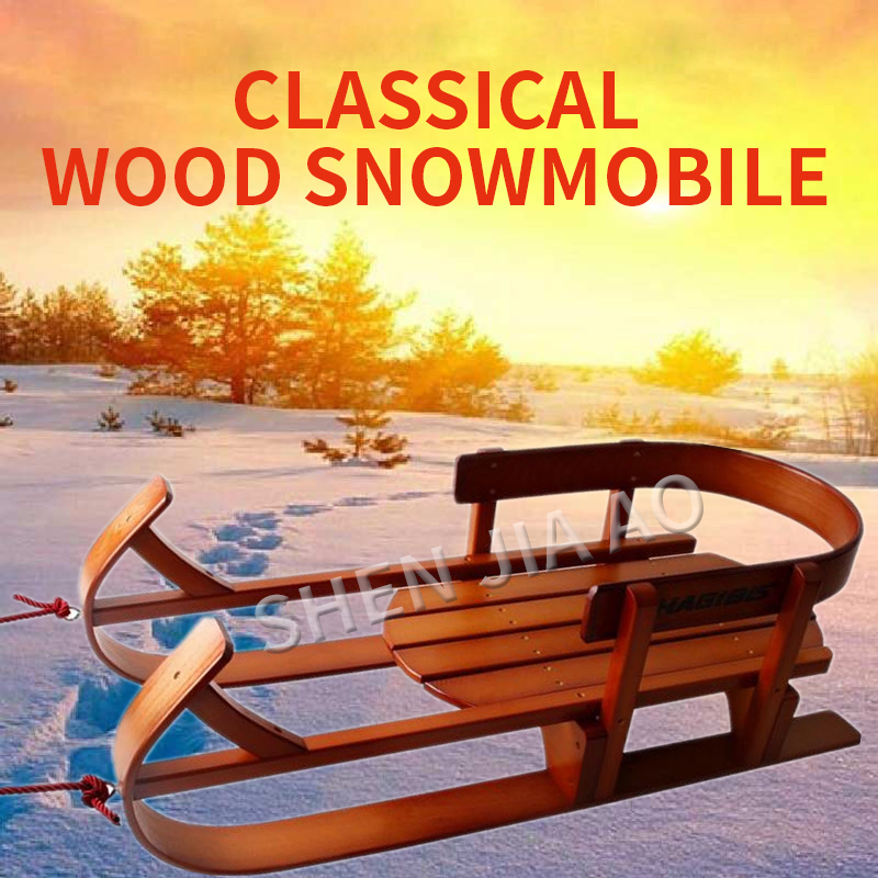 Traîneau en bois/ski en bois original rétro/chasse-neige en bois/traîneau de bateau/snowboard/accessoires de photographie/jouets d'enfance