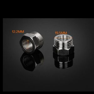 """1/4"""" Female to 1/2"""" Male BSP Thread 201 Stainless Steel Bushing Fill Core Joint Pipe Fitting Quick Hose Straight Connector"""