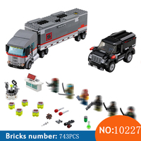 10277 743pcs New Ninja Tortoise Big Rig Truck Snow Getaway DIY Model Building Blocks Children Toys Brick Compatible 79116