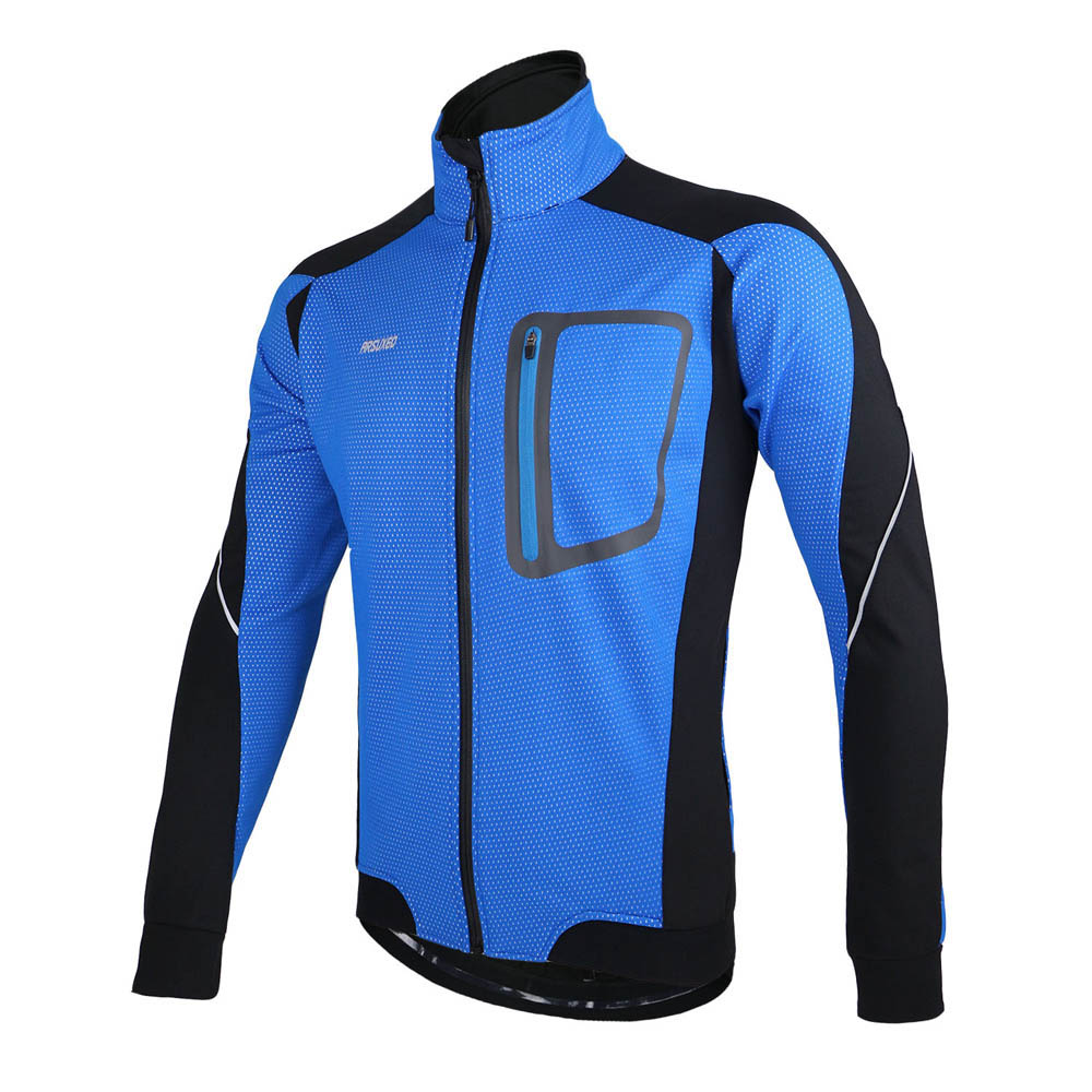 a6be150ad ARSUXEO Cycling Jacket MTB Bike Windproof Jacket Autumn Winter Warm Thermal Bicycle  Clothing Men Wind Coat Long Sleeve -in Cycling Jackets from Sports ...