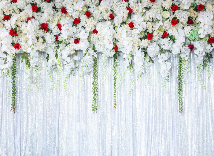 Flower White Booth Curtain photo backdrop Vinyl cloth High quality Computer printed wedding bridal background seaside beach white clouds and blue sky photo backdrop high grade vinyl cloth computer printed wedding backgrounds