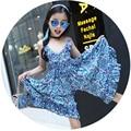 Бренд 2015 девушки Комбинезон одежда дети Девушки красочные кусок одежды лета малышей холтер Комбинезон одежда