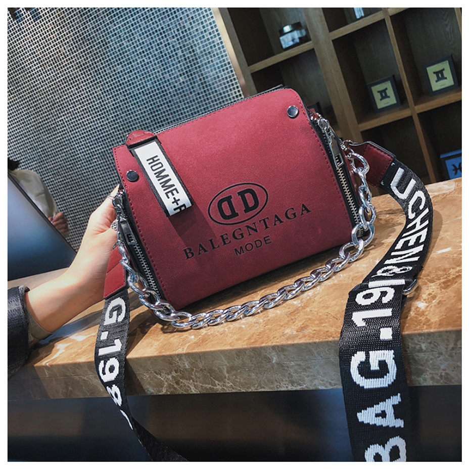 HTB1EFKpJwTqK1RjSZPhq6xfOFXak - Women's Leather Messenger Bag | Wide Strap Chains