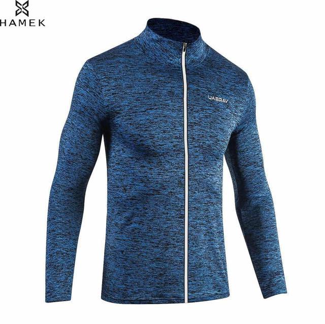 Мужские, весенне-осенние кроссовки пиджак мужской спортивный спортивное пальто Светоотражающая застежка на эластичные баскетбольные футбол одежда с длинным рукавом рубашки