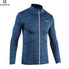 Mens Spring Autumn Running Jacket Male Sport Training Coat Reflective Zipper High Elastic Basketball Soccer Long Sleeves Shirts(China)