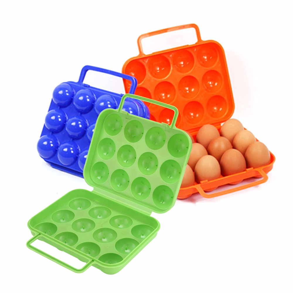 12 Grid Egg Storage Container Shookproof Outdoor Camping Panic Egg Box Case Portable Eggs Protector