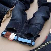 2017 Famous Brand Plus Size Mens Trendy Black Blue Stretch Jeans Regular Denim Jean Trousers Large
