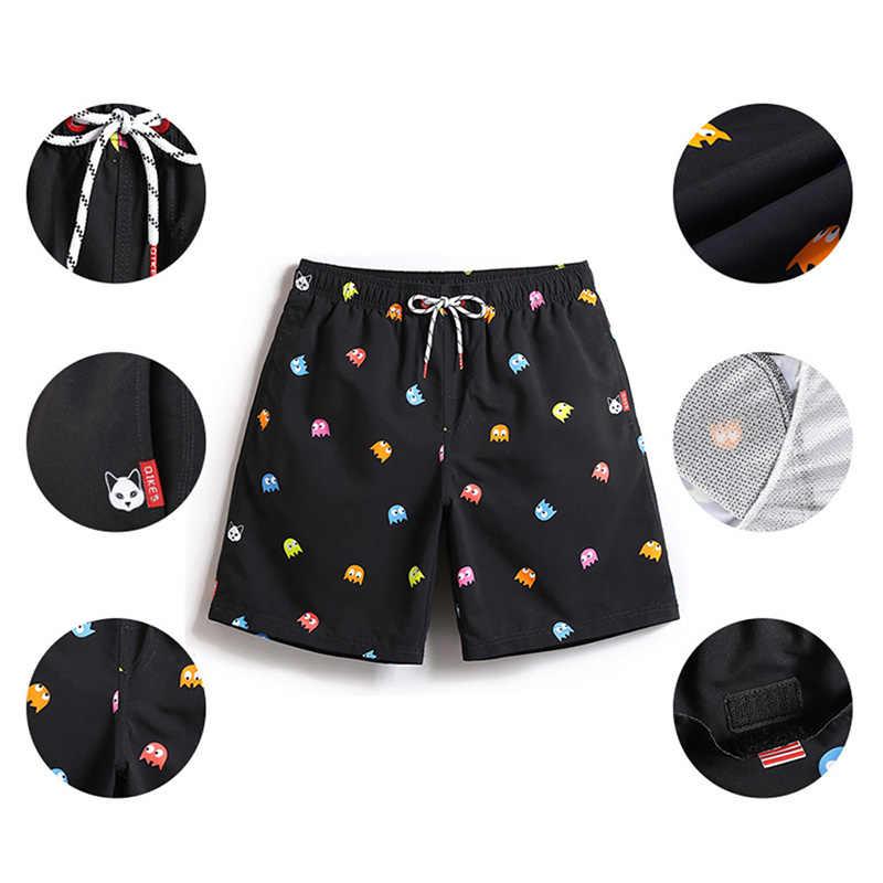 Мужские пляжные шорты, купальник, спортивные шорты, быстросохнущая одежда для плавания, мужские с подкладкой, плавки с эластичной резинкой на талии, купальный костюм