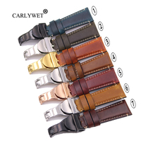 CARLYWET 20 22mm Durable Real Leather Replacement Wrist Watch Band Strap Belt Bracelet For Tudor Seiko Rolex Omega