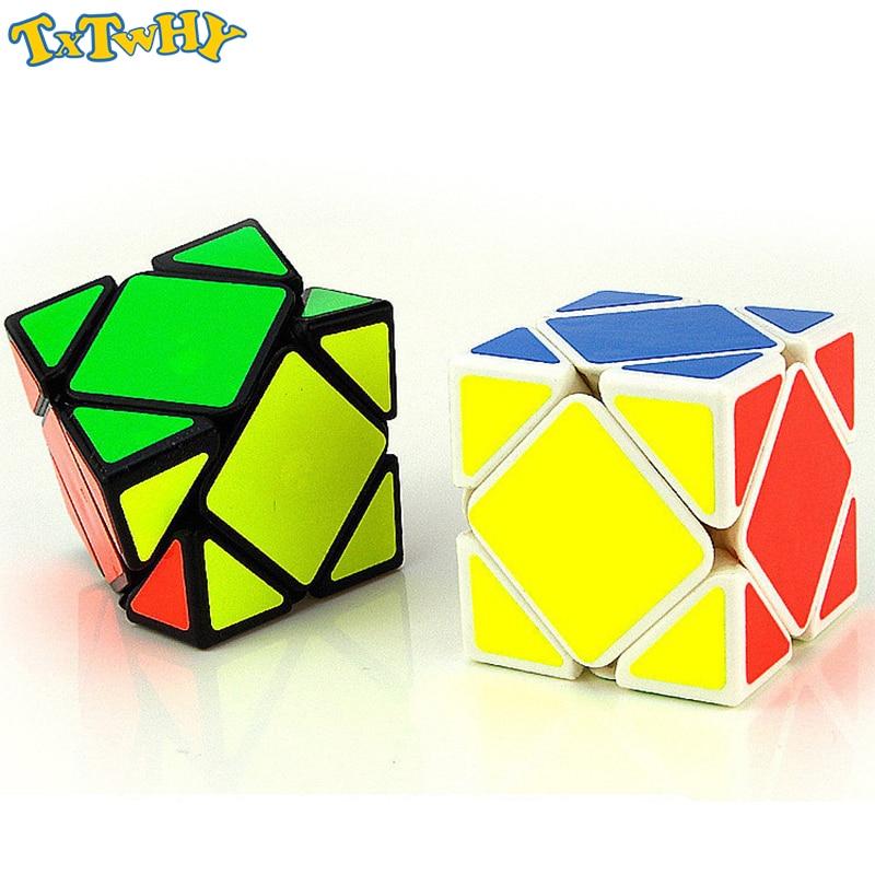 TXTWHY One Piece Skewb Magnetic Cube MC8847 Mofang Jiaoshi Pandora Magic Cube Educational Toys For Brain Trainning - Black/White