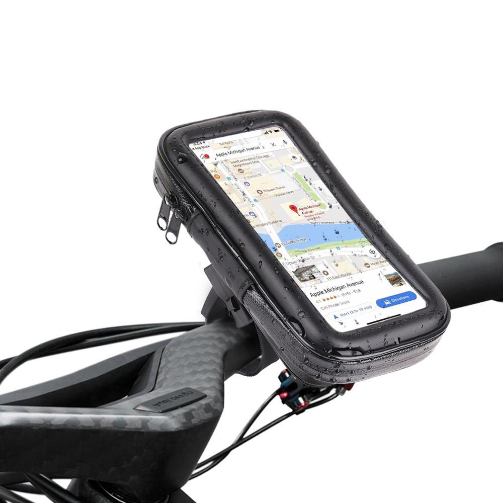 Waterproof Cell Phone Holder Motorcycle Bike Bicycle Handlebar Mount GPS