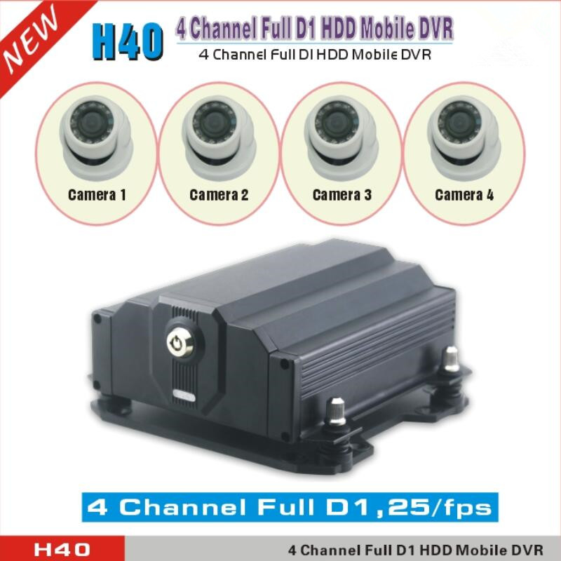 4Chanel Full D1 Hdd Mobile Ahd DVR Cloud Tech Vehicle DVR with Free Cloud software Support optional GPS Wi Fi 3G 4G