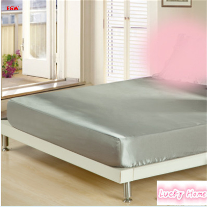 Aliexpress 180 200cm Artifical Silk 1pc Ed Sheet Set Mattress Cover Bed With Rubber Summer Cushion Bedclothes From