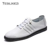 Tesilixiezi Натуральная кожа Мужская повседневная обувь летние дышащие мягкие для вождения мужские ручной работы сапоги мужские чистая поверхность лоферы