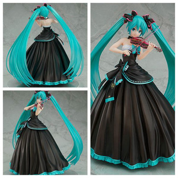 1/8 Scale Anime Hatsune Miku Action Figures Cartoon Symphonic Hatsune Violin Shape Model Decoration Statues Toy Gifts For Kids