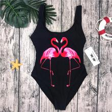 M&M Swimwear 2018 Women One Piece Swimsuit birds Printed Summer Bathing Suit