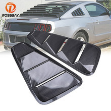 POSSBAY ABS Plastic Car Stickers Car Rear Window Louver Cover Fit for Ford Mustang Coupe 2005-2014 Auto Rear Window Panel Vent(China)
