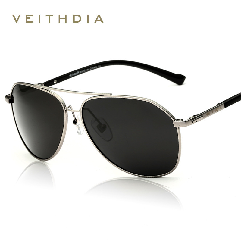 VEITHDIA Brand Fashion Sunglasses Polarized Men 6 Color Coating Mirror Sun Glasses oculos Male Eyewear Accessories gafas 2366
