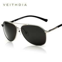 VEITHDIA Brand Fashion Sunglasses Polarized Men 6 Color Coat