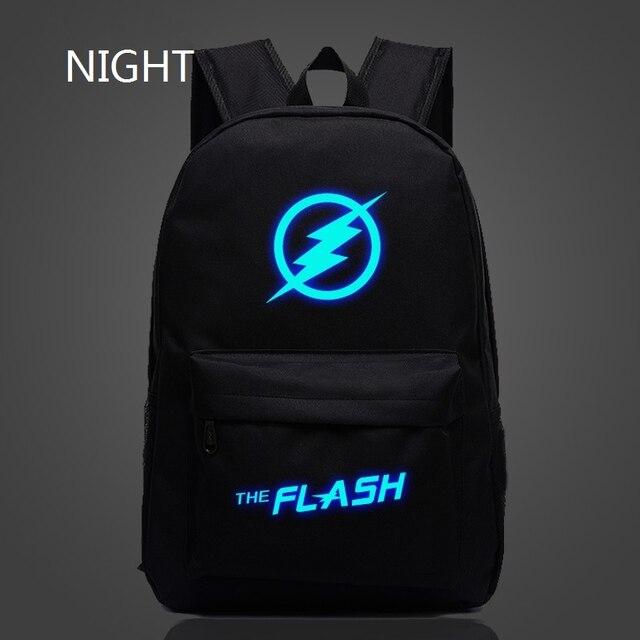 veevanv 2016 popular Marvel movie stars flash light backpack bag teenagers Backpack School Travel Backpack color optional