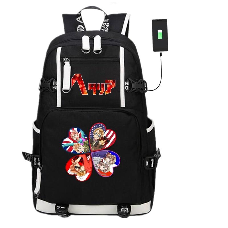 Japan Anime FAIRY TAIL Unisex Backpack Student Travel Shoulder Bag Laptop Gift