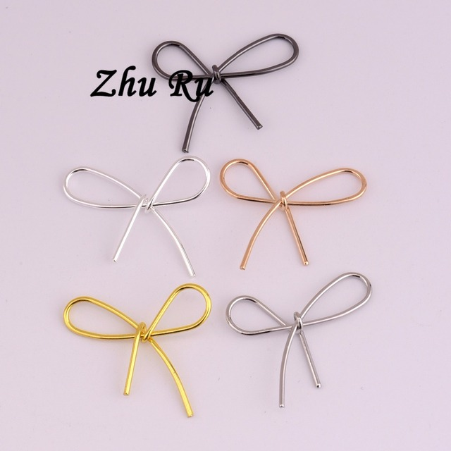 ZHU RU 10 teile/los 22,5*21mm Antike Silber Farbe fliege kupferdraht ...