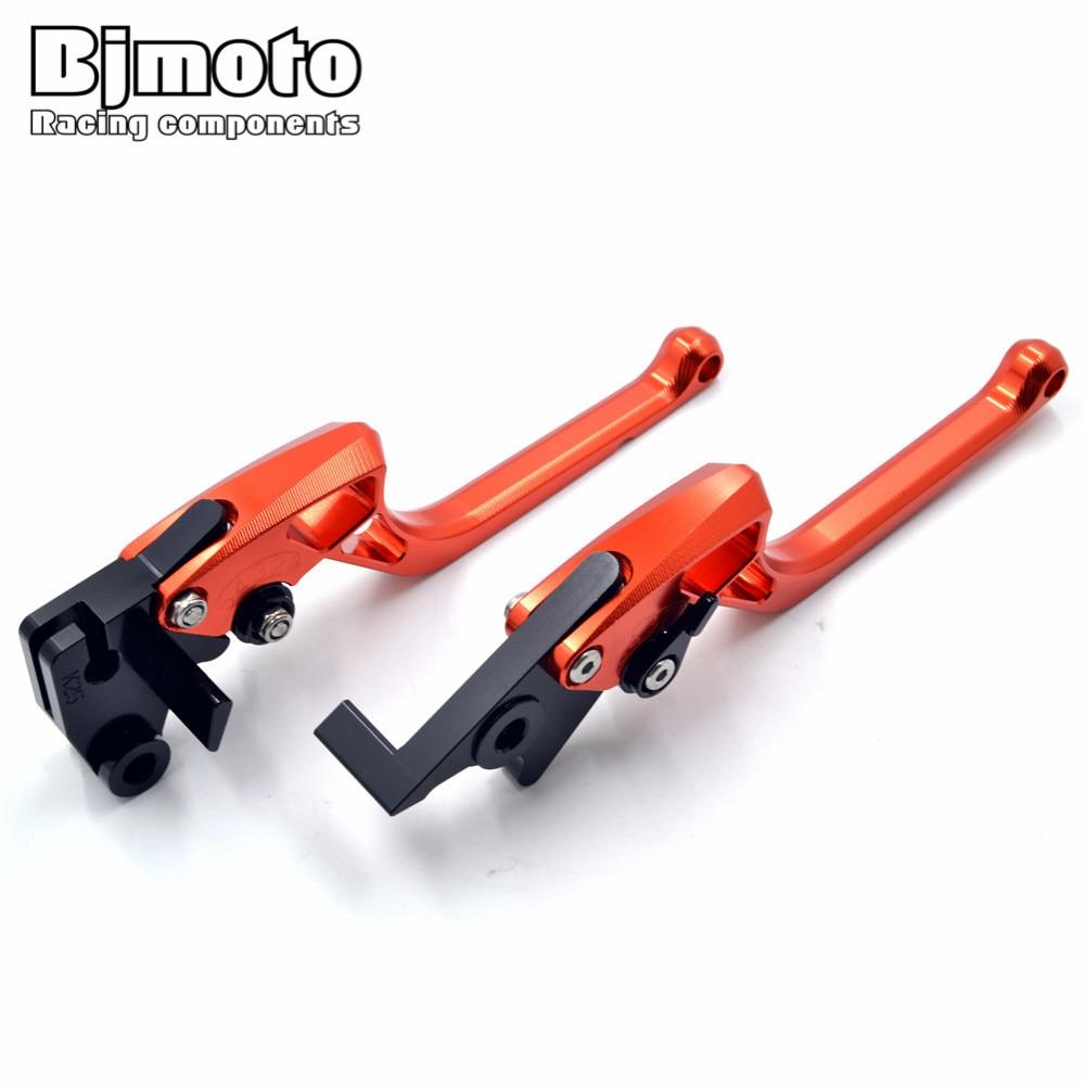 BJMOTO Long Effort Motorcycle CNC Brake Clutch Levers Orange For KTM Duke 125 200 250 390 RC 125 200 250 390 Motorbike Levers