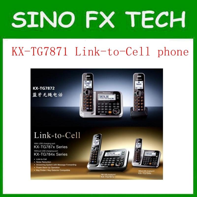 bilder für 98% NEUE KX-TG7871S DECT 6,0 Link zu Zelle über Bluetooth Schnurloses Telefon mit Anrufbeantworter Hause Telefon 2 mobilteile KX-TG7871