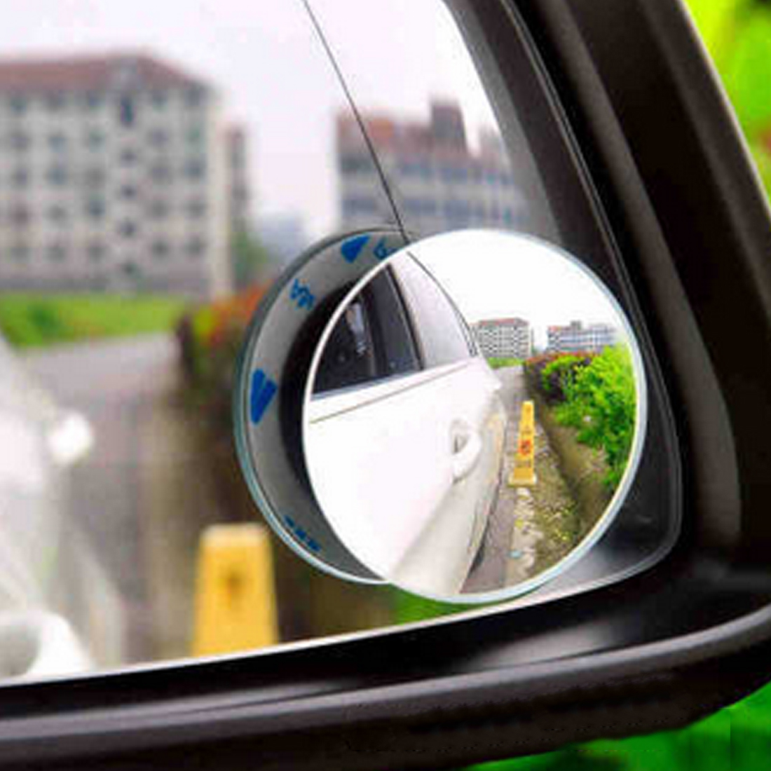 Dewtreetali 1 pair 360 Degree frameless ultrathin Wide Angle Round Convex Blind Spot mirror for parking Rear view mirror