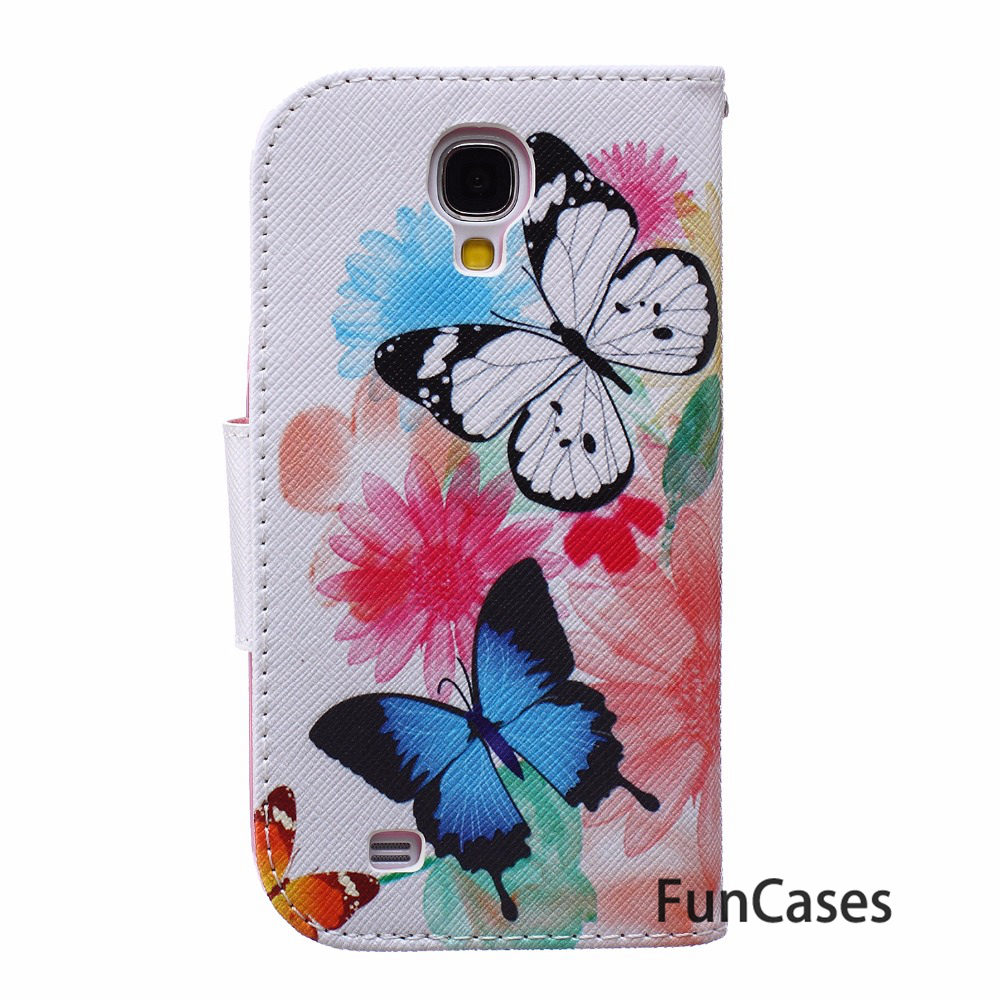 Stand Case For coque Samsung S4 Case For fundas Samsung Galaxy S4 Case S4 SIV i9500 5 inch + Card Holders Samaung telefonni