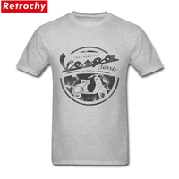 90s Hip Hop Vespa T Shirt Vintage For Men Italy Scooter Brand Short Sleeve Classic 80