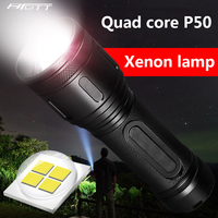 Flashlight led Cree xhp50 Hard Light 30W Built in 32650 lithium battery Power Bank Shock Resistant Self Defense Car led torch