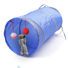 Foldable Cat Tunnel Pet Cat Tent Pet Supplies Toy Portable Solid Color Cat Rabbit Tube Road Training Toy With 2 Catching Balls