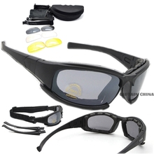 Polarized Army Goggles Cycling Glasses Military Sunglasses 4 Lens Men's Outdoor War Game Tactical Glasses Sporting Fishing