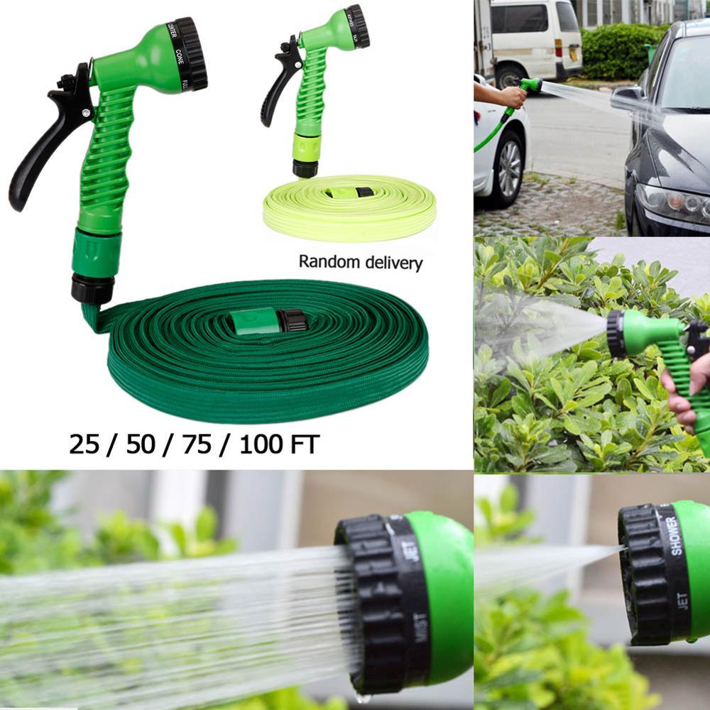 Garden-Hose Watering-Connector Expandable Flexible Spray-Gun for with 25-100FT