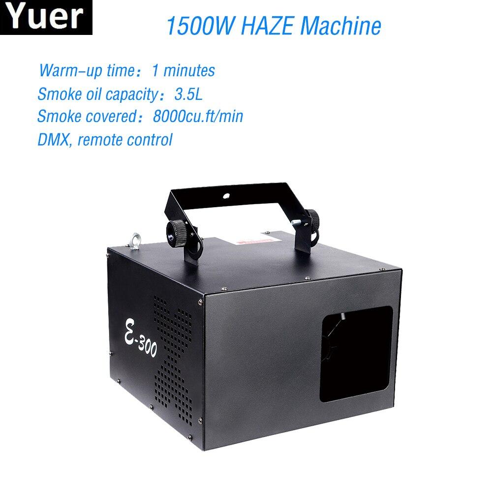 1500W Mist Haze Machine Professional Stage Laser Equipments Fog Machine DMX512 Control Fogger For Disco DJ Party Stage