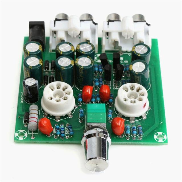 New Arrival AC12V/1A 2.0 6J1 Pre Amplifier Board Headphone Amplifier Buffer DIY