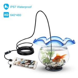Image 3 - 3 in 1 7mm Android Endoskop Kamera IP67 Wasserdichte Inspektion Endoskop Kamera mit 6 led leuchten für Android Samsung PC Typ C