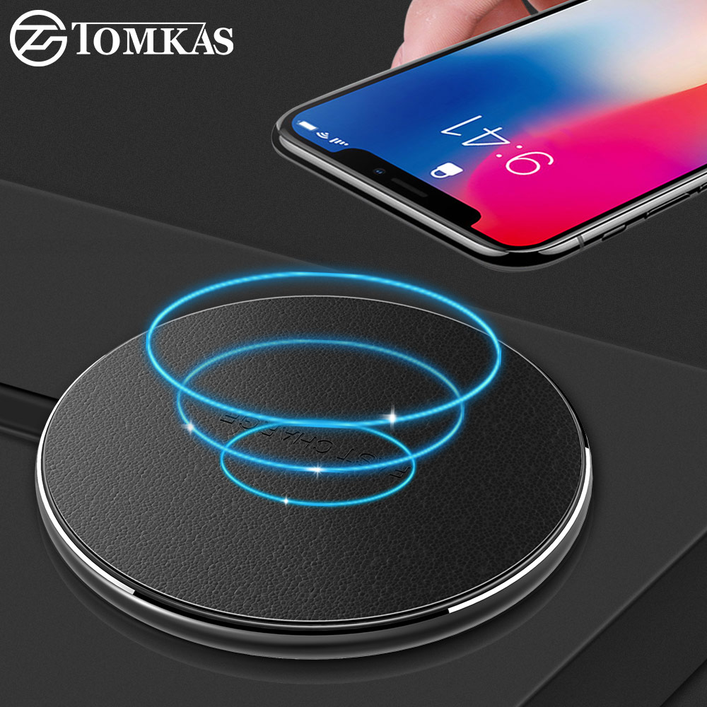 TOMKAS 10W QI Wireless Charger for iPhone X 8 Plus Fast Wireless Charging for Samsung Galaxy S9 S8 Plus Wireless Charger Pad