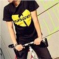 2016 лето Горячие продажа Футболки WU TANG хип-хоп скейтборд уличная Печатных Мужские Футболки Camisetas Masculinas 100% CottonTshirt