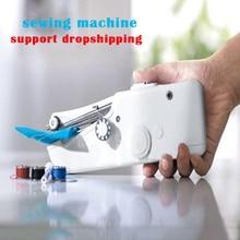 Ручная швейная машинка швейная машинка Вышивание машины мини Ручные Швейные машины портативный ручной стежка шить рукоделие ткани швейная машинка электрическая швейные машинки
