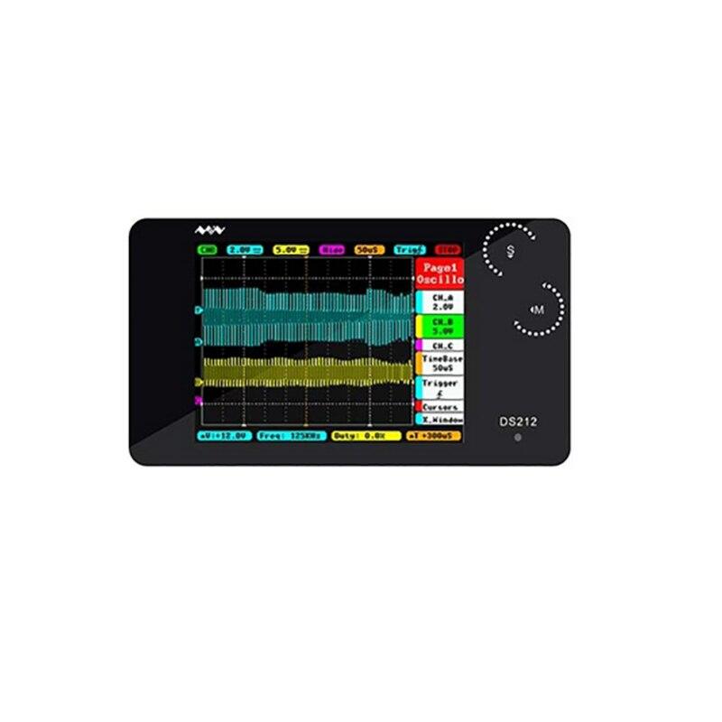 DS212 kit Oscilloscopio Multimetro Digitale Dello Schermo di Tocco di larghezza di Banda di frequenza di Campionamento MCX Sonda Combinato 1 mhz Oscilloscopio Set