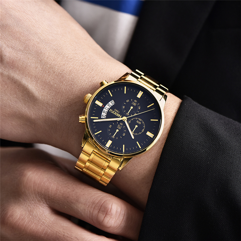 NIBOSI Dropshipping Relogio Masculino Luxury Brand Watches for Men Business Chronograph Watch Male Waterproof Quartz Wristwatch