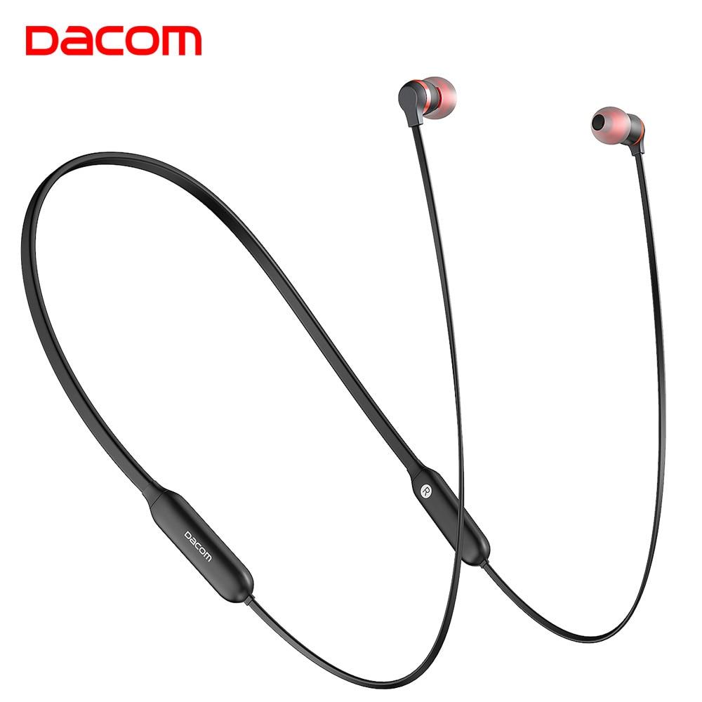 Dacom L06 Drahtlose Kopfhörer Bluetooth Kopfhörer Sport Stereo Bass in-Ear-Monitor Neckband Kopfhörer Headset mit Mic für Telefon