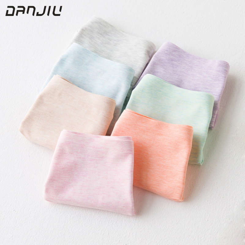 DANJIU Candy Color Briefs for Women Sexy Cotton Underpants Breathable Underwear Woman Calcinha Lingerie Women's Seamless   Panties