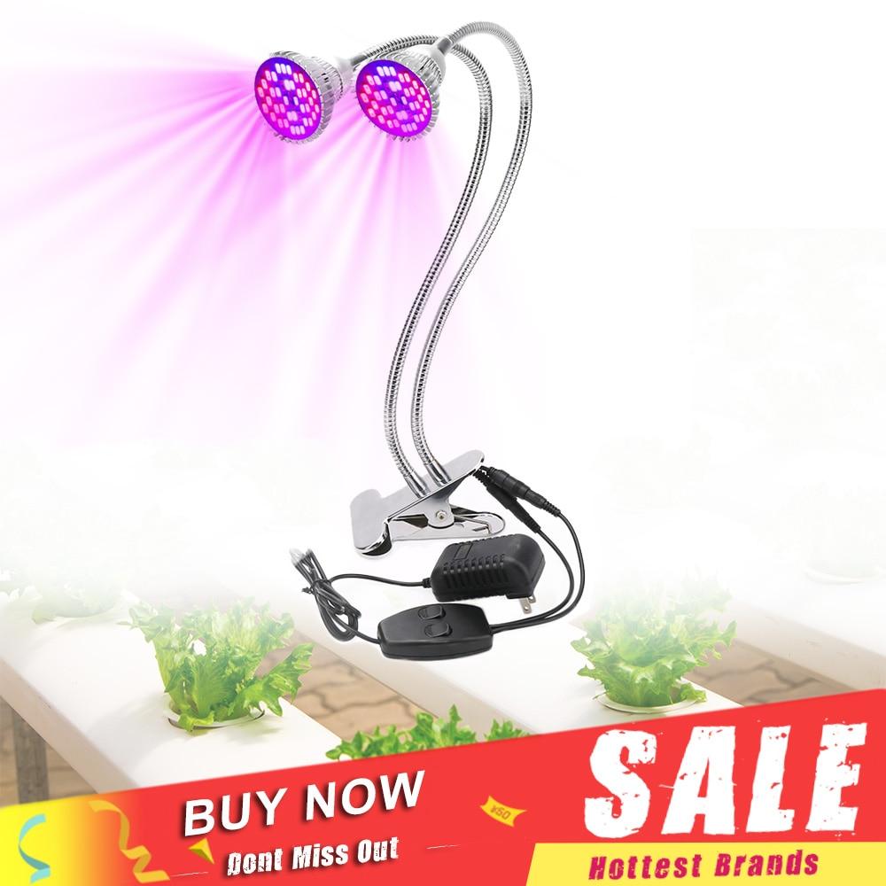 Full Spectrum 60W LED Grow Light 360 Degree Flexible Lamp Holder Clip LED Plant Growth Light for Indoor Desktop Plants 360 degree mini suction cup holder w clip car charger for motorola moto g black