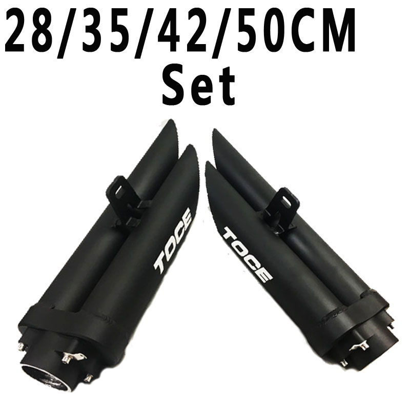 A Set High Quality TOCE Exhaust Pipe Muffler Motorcycle Right and Left Side Escape For YAMAHA