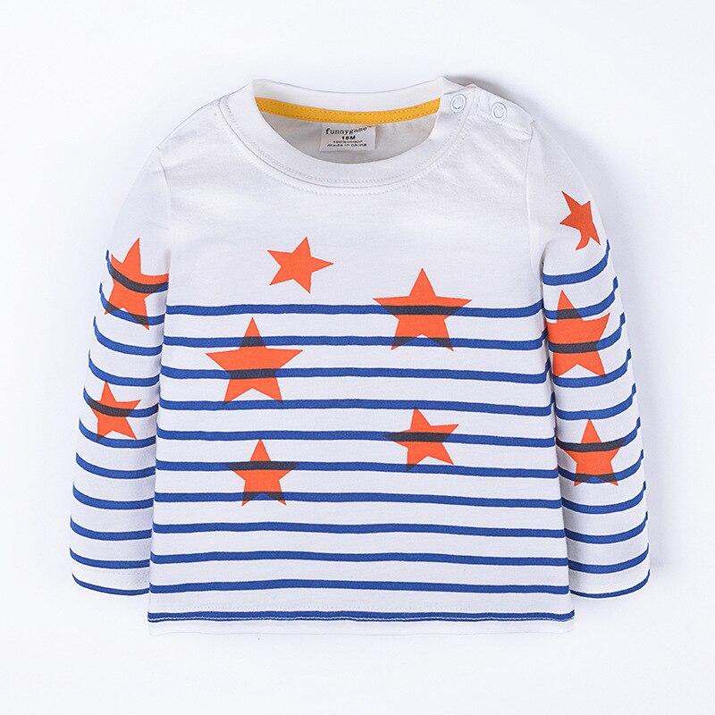 2017 Spring Autumn Cotton Girls Boys T-shirts Manche Longue Garcon Bobo Choses Baby Sweatshirt Children Tops Tees Menino T Shirt