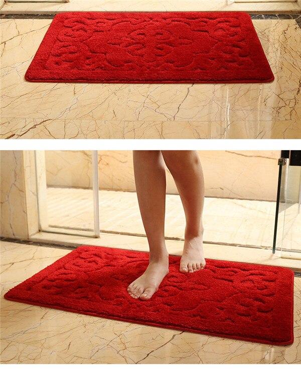 Tapis salle de bain tapis de toilette douche salle de bain tapis aspiration antidérapant ventouse kinthen salle de bain tapis ensemble tapis de bain décor 60*90 CM